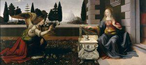 L'Annunciazione di Leonardo da Vinci alla Galleria degli Uffizi di Firenze dopo il restauro